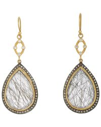 Sara Weinstock | Metallic Quartz & Diamond Double-drop Earrings | Lyst