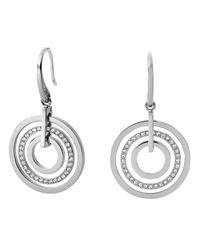 Michael Kors | Metallic Pavé Disc Earrings | Lyst