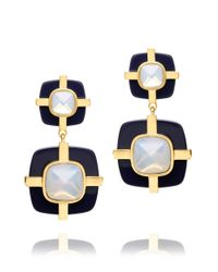 Tory Burch - Blue Audrey Drop Earring - Lyst