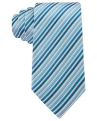 Geoffrey Beene - Blue Stripe Done Right Tie for Men - Lyst