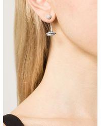 Delfina Delettrez - Metallic 'Lips Piercing' Earrings - Lyst