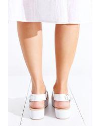 Dolce Vita | White Ziggie Platform Sandal | Lyst