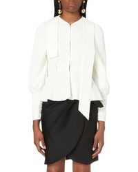 J.W.Anderson | White Puff-sleeved Crepe Blouse | Lyst