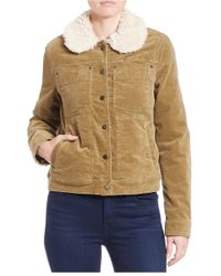 Free People - Natural Sherpa-lined Corduroy Jacket - Lyst