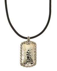 John Hardy | Metallic Palu Hammered Sterling Silver Pendant Necklace | Lyst