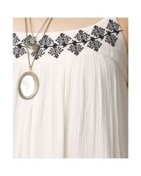Denim & Supply Ralph Lauren - Natural Embroidered Gauze Maxi Dress - Lyst