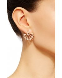 Sutra - Pink Rose Gold And Diamond Starburst Earrings - Lyst