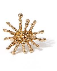 Oscar de la Renta - Metallic Gold-tone Pearl Ring - Lyst