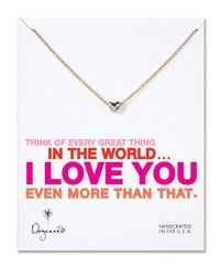 Dogeared - Metallic Silver Think Of Every Great Thing Necklace 18 - Lyst