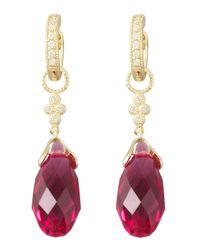 Jude Frances | Purple Fuchsia Quartz Briolette Charms | Lyst