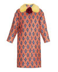 Gucci | Multicolor Matelassé Losanga Jacquard Coat | Lyst