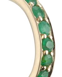 Laura Lee | Green Gold And Emerald Huggie Hoops | Lyst