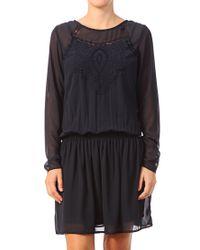 Vila - Blue Pencil Dress - Lyst