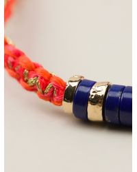 Aurelie Bidermann - Orange Beaded Bracelet - Lyst