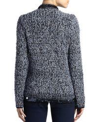 Lanvin - Blue Sequined Tweed Jacket - Lyst