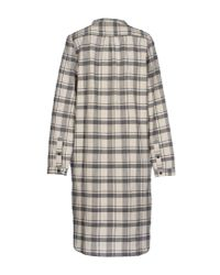 Leon & Harper | White Tartan-Print Cotton Shirt Dress | Lyst