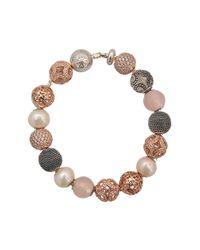 Thomas Sabo | Brown Karma Beads Coloured Bracelet | Lyst