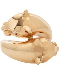 Sidney Garber - White Panther Ring Size Os - Lyst