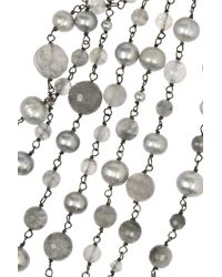 Rosantica - Metallic Pegaso Gunmetaldipped Quartz and River Pearl Necklace - Lyst