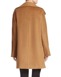 Ellen Tracy | Brown Petite Single-breasted Wool-blend Coat | Lyst