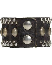 DSquared² - Black Studded Leather Bracelet for Men - Lyst