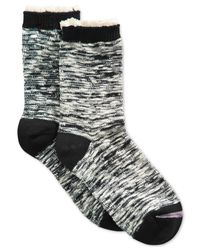 Lucky Brand | Black Women's Ruffle Trouser Crew Socks | Lyst