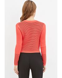 Forever 21 - Pink Ribbed Knit Cropped Sweater - Lyst