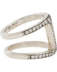 Hoorsenbuhs - Metallic Diamond Sterling Silver Dame Phantom Ii Ring - Lyst