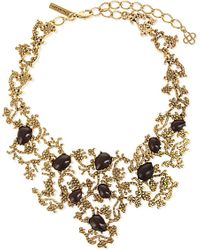 Oscar de la Renta - Metallic Filigree Embellished Necklace - For Women - Lyst