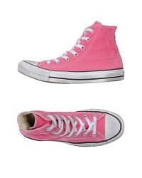 Converse - Pink High-tops & Trainers - Lyst
