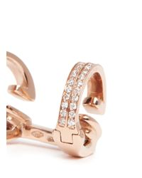 Repossi | Metallic 'berbère' Diamond Rose Gold 2-hoop Ear Cuff | Lyst