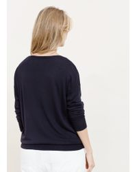 Violeta by Mango | Blue Bead Sweater | Lyst