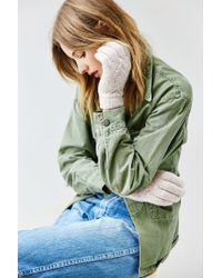Urban Outfitters - Natural Pinwheel Plush Glove - Lyst
