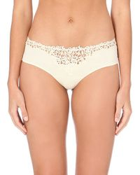 La Perla | Natural Petit Macramé Jersey Briefs - For Women | Lyst