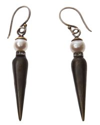 Beth Orduna - Black Spike Earring - Lyst