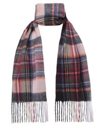 Jules B | Purple Wool Tartan Scarf for Men | Lyst