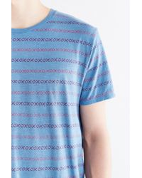 BDG | Blue Slub X's Standard-fit Tee for Men | Lyst