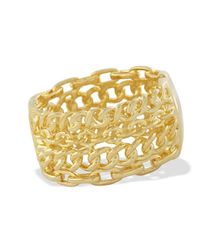Kenneth Jay Lane | Metallic Polished Gold Cuff | Lyst