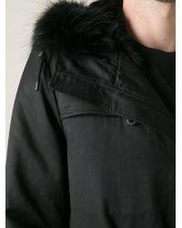 Yves Salomon - Black Mink Lined Parka for Men - Lyst