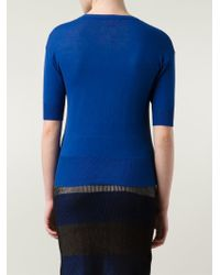 Vivienne Westwood Red Label - Blue Scoop-Neck Cotton Sweater - Lyst