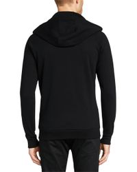 HUGO | Black Regular-fit Hooded Sweatshirt Jacket In Cotton: 'danto' for Men | Lyst