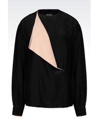 Armani Jeans   Black Viscose Blouse   Lyst