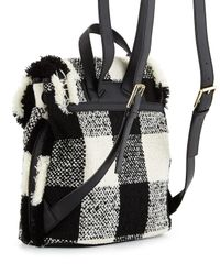 Tory Burch - Black Lonnie Woven Flap Backpack - Lyst