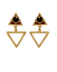 Ileana Makri - Diamond & Yellow-Gold Pyramid Earrings - Lyst
