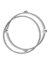 David Yurman - Metallic Color Classics Bangles With Amethyst - Lyst