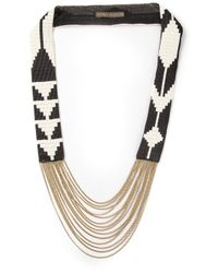Fiona Paxton - Black Edie Beaded Necklace - Lyst
