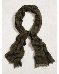 John Varvatos | Green Crinkled Camo Scarf for Men | Lyst