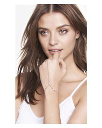 Express | Metallic Simple Rhinestone Hand Chain | Lyst