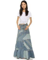 Marc By Marc Jacobs - Blue Patchwork Denim Skirt - Lyst