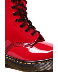 Dr. Martens - Womens Boot in Red Pantent Lamper - Lyst